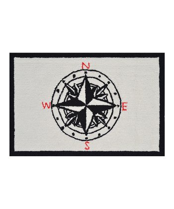 Black & Red Compass Rug