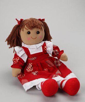 Red Love Hearts Dress Doll