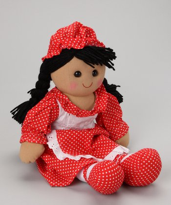 Red Polka Dot Dress Doll