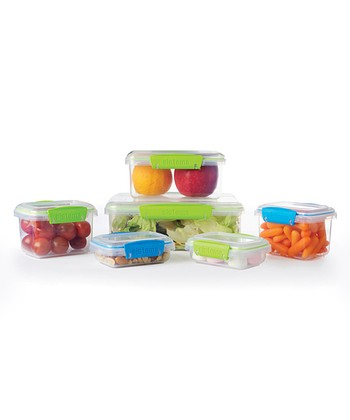 Green & Blue To-Go Six-Piece Storage Set