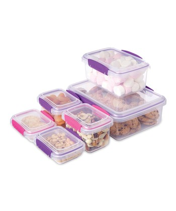 Pink & Purple To-Go Six-Piece Storage Set