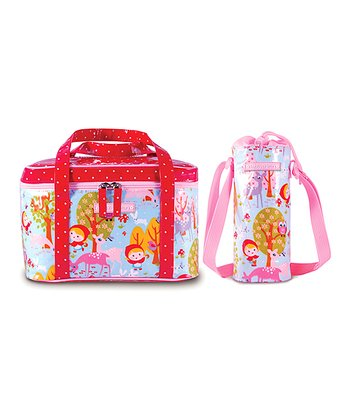 Rosy Red Yummy Lunch Tote & Bottle Bag