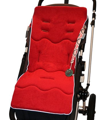Red Reversible Terry Memory Foam Stroller Liner