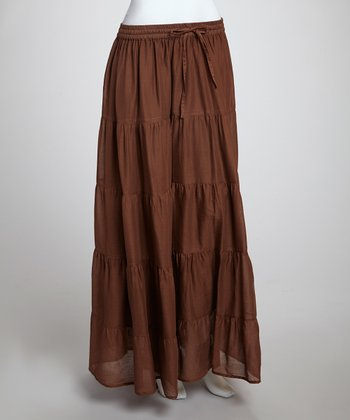 Dark Brown Maxi Skirt