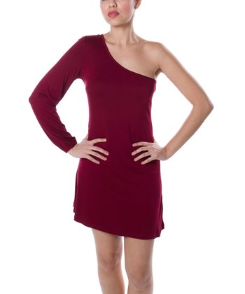 Crimson Halstead Asymmetrical Dress