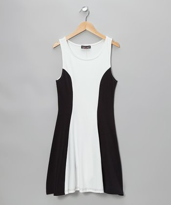 White & Black Parisian Dress