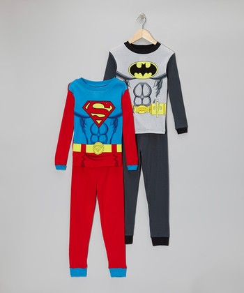 Superman & Batman Pajama Set - Boys