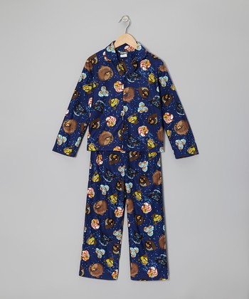 Navy Star Wars Angry Birds Pajama Set - Boys