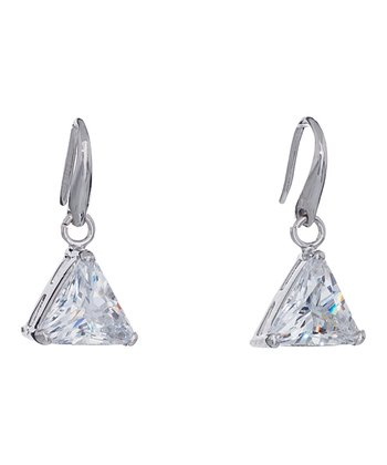 Silver Pyramid of Light Earrings