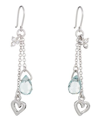 Aqua Love is in the Air Earrings Made With SWAROVSKI ELEMENTS