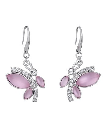 Pink Playful Butterfly Earrings Made With SWAROVSKI ELEMENTS
