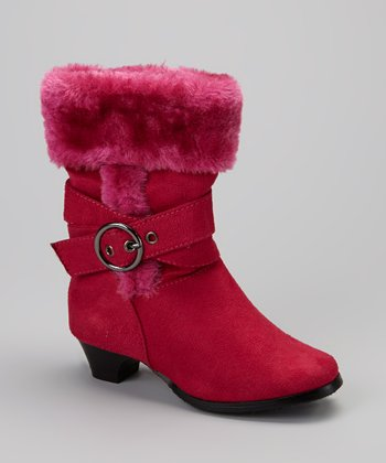 Fuchsia Alicia Heeled Boot