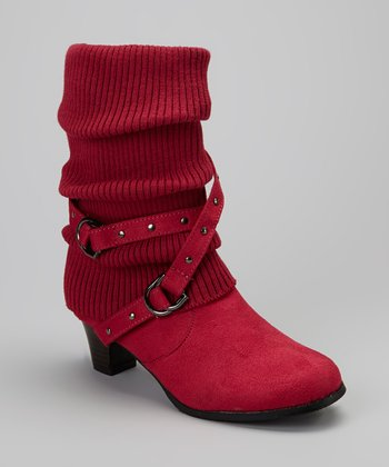Fuchsia Lizzy Heeled Boot