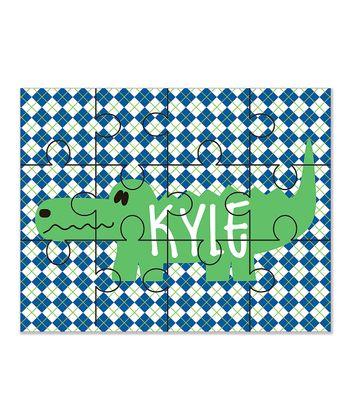 Alligator Personalized 12-Piece Jigsaw Puzzle