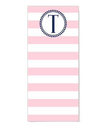 Wide Stripe Initial Notepad - Set of Two