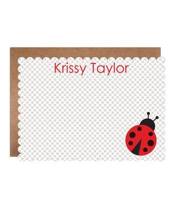 Ladybug Personalized  Card & Envelope Set