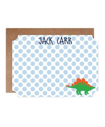 Dinosaur Personalized  Card & Envelope Set