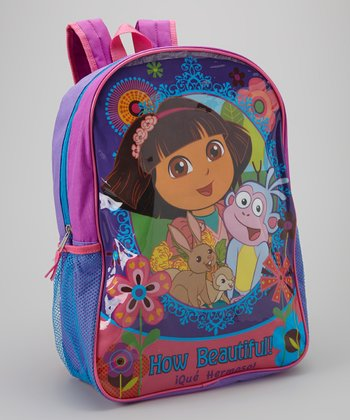 Pink & Purple Dora Backpack