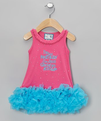 Pink 'Givin' You Attitude' Tutu Dress - Infant, Toddler & Girls