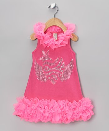 Pink Flying Heart Tutu Dress - Infant, Toddler & Girls
