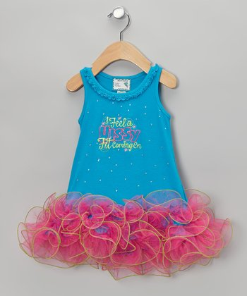 Blue & Pink 'Hissy Fit' Tutu Dress - Infant, Toddler & Girls