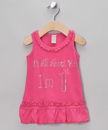 Pink 'I'm 1' Ruffle Dress - Infant