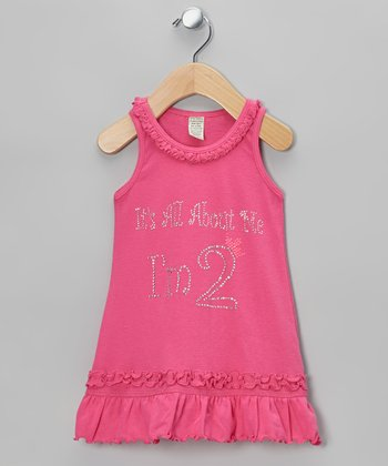 Pink 'I'm 2' Ruffle Dress - Infant & Toddler