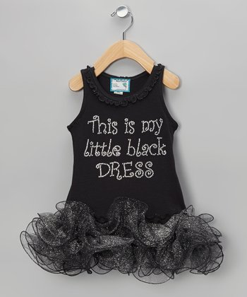 Black 'Little Black Dress' Tutu Dress - Infant, Toddler & Girls