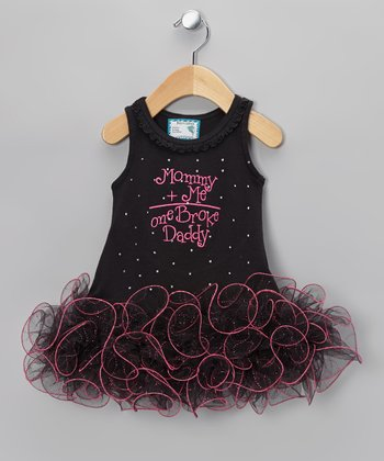 Black 'Mommy + Me' Tutu Dress - Infant, Toddler & Girls