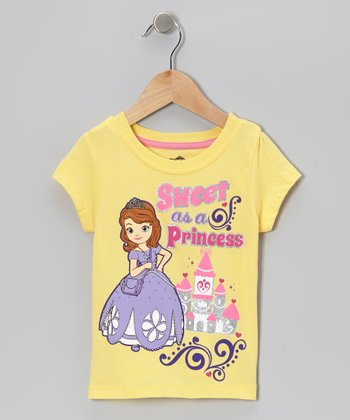 Pastel Yellow Sofia 'Princess' Top - Toddler