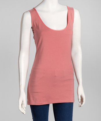 Rose Scoop Neck Tank