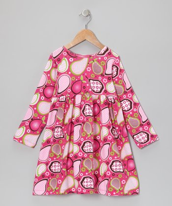 Pink Pear Pudding A-Line Dress - Infant
