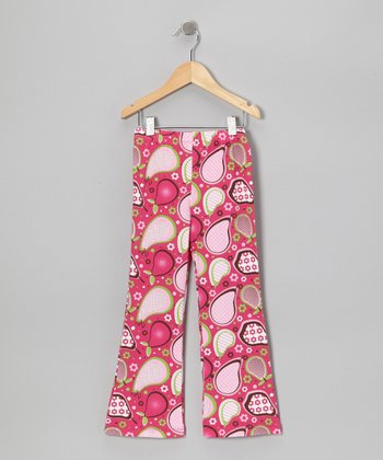 Pink Pear Pudding Bootcut Pants - Infant & Toddler