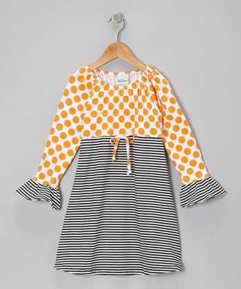 Mango Polka Dot Ruffle Dress - Infant