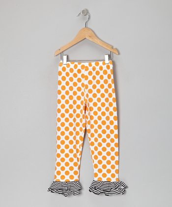 Mango Polka Dot Ruffle Leggings - Infant, Toddler & Girls