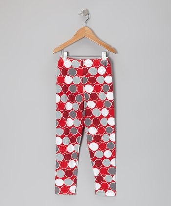 Red Classic Dots Leggings - Toddler & Girls