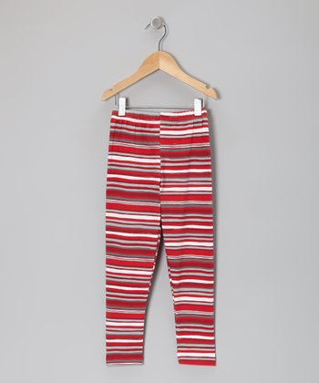 Crimson Stripe Leggings - Infant