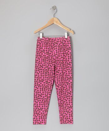 Pink Dancing Daisies Leggings - Infant, Toddler & Girls