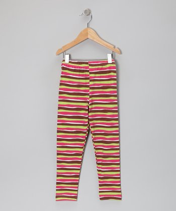 Pink Neapolitan Stripe Leggings - Infant, Toddler & Girls