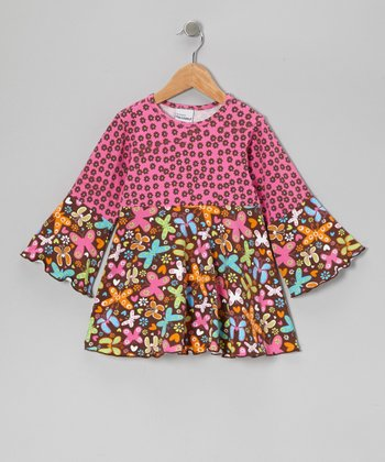 Pink Butterfly Party Woodstock Top - Infant, Toddler & Girls