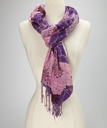 Purple Marigold Scarf