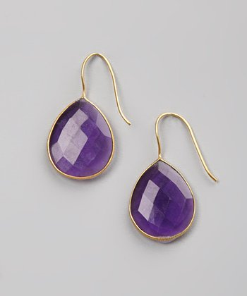 Amethyst Sparkle Teardrop Earrings