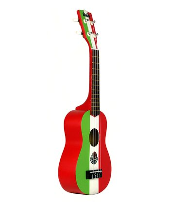Green & Red Mexican Flag Ukadelic Soprano Ukulele