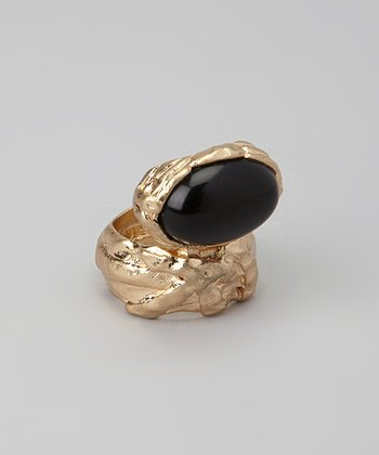 Black Cabochon Ring