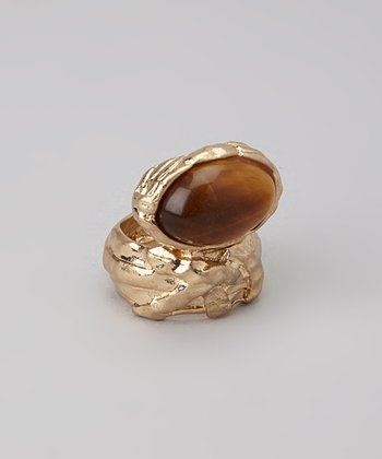 Tiger Eye Cabochon Ring