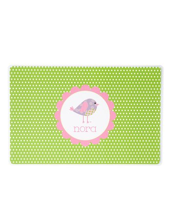 Patchwork Birdie Personalized Place Mat