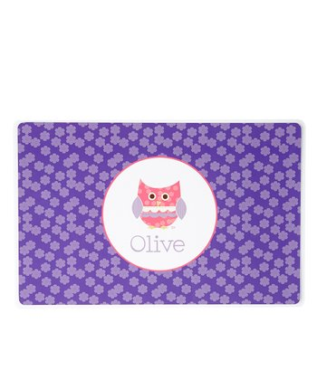 Patchwork Owl Personalized Place Mat