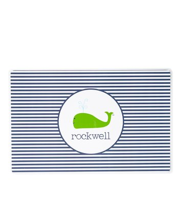 Preppy Whale Personalized Place Mat
