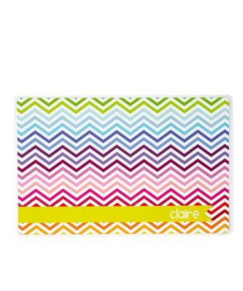 Rainbow Zigzag Personalized Place Mat