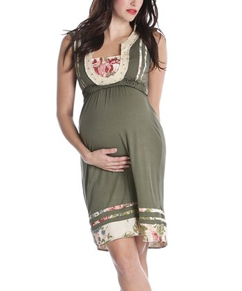 Olive Macee Maternity  Dress